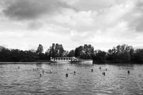 A Thames Fit To Swim paddle steamer Danny Burrows